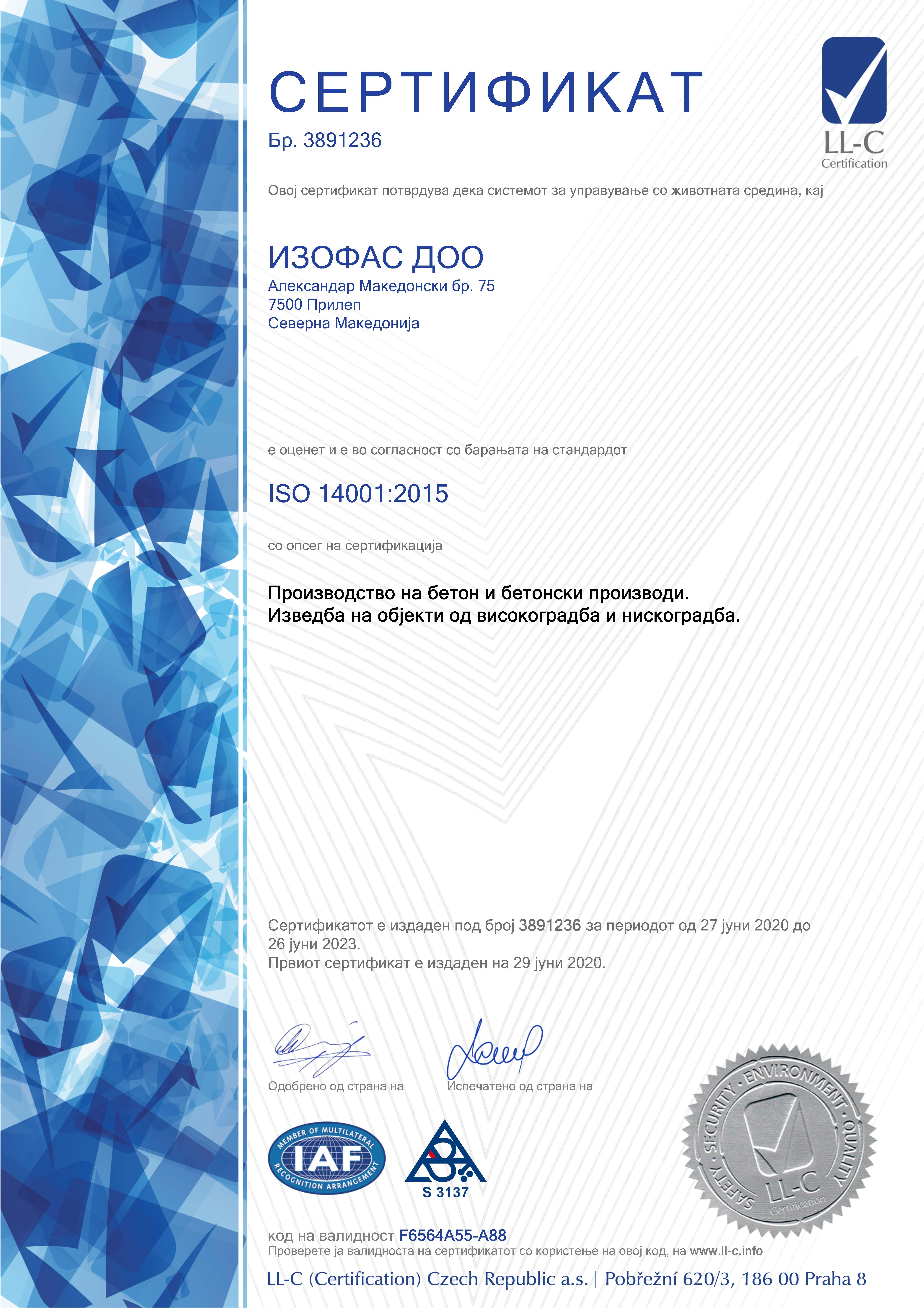 Sertifikat 14001 mk
